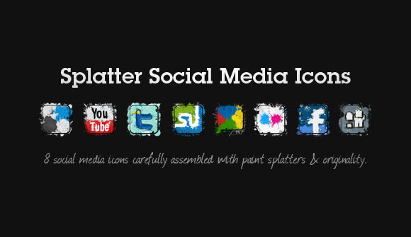 splatter icon set Free Social Media Icon Sets Best Of