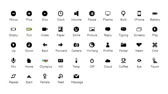 Peculiar CSS icon set