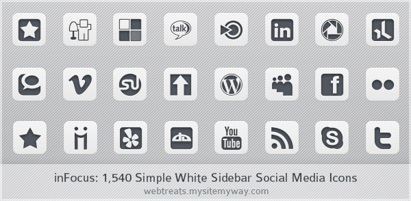 simple white icon set Free Social Media Icon Sets Best Of