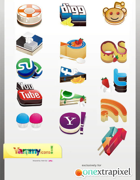 yammy icon set Free Social Media Icon Sets Best Of