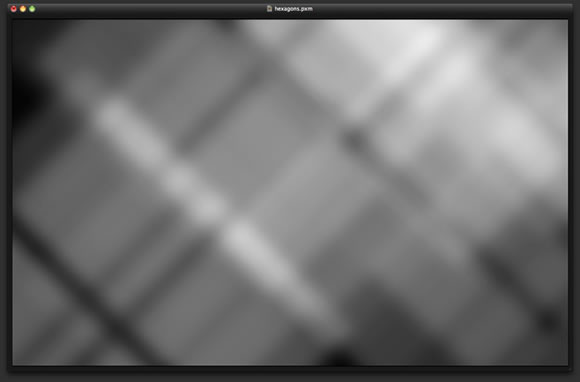 Hexagons Bokeh in Pixelmator