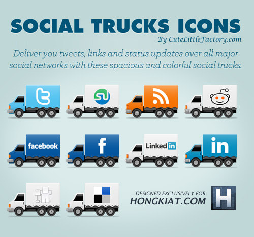 social truck icon set Free Social Media Icon Sets Best Of