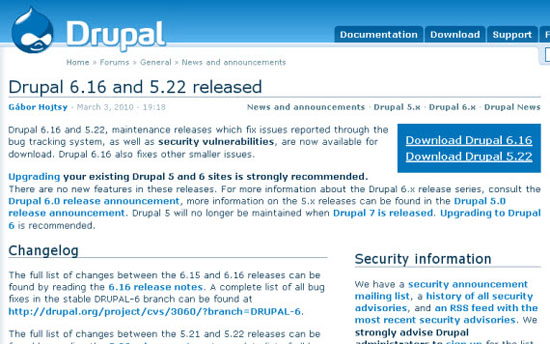 Downloading and Installing Drupal