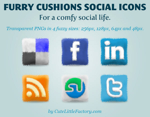 furry cushions icon set Free Social Media Icon Sets Best Of