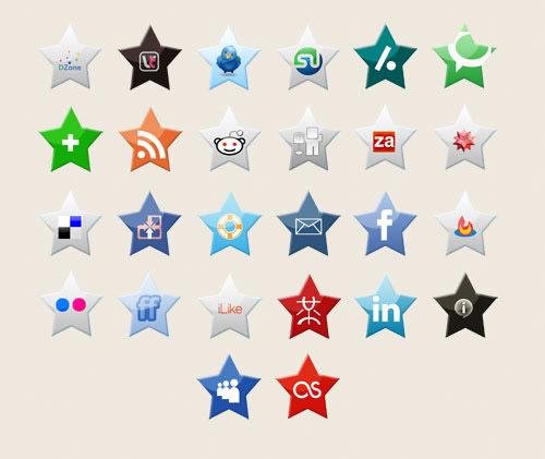social media stars icon set Free Social Media Icon Sets Best Of