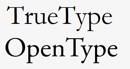 TrueType vs. OpenType