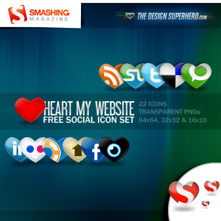 heart icon set Free Social Media Icon Sets Best Of