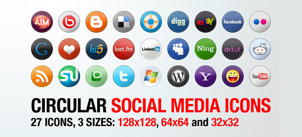 circular Free Social Media Icon Sets Best Of