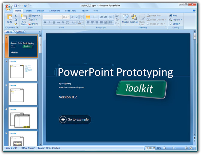 PowerPoint Prototyping Toolkit