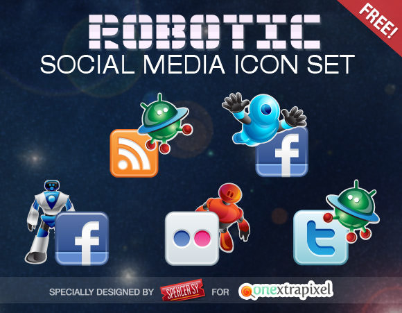 robotic icon set Free Social Media Icon Sets Best Of