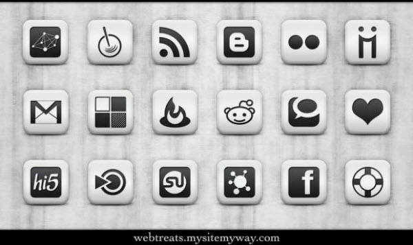 matte white icon set Free Social Media Icon Sets Best Of