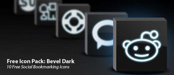bevel dark icon set Free Social Media Icon Sets Best Of