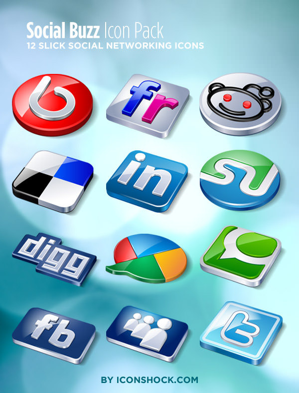 social buzz icon set Free Social Media Icon Sets Best Of