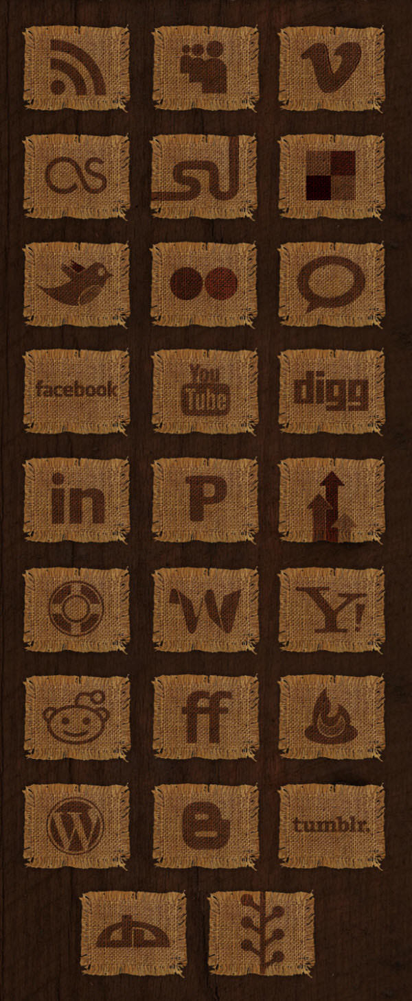 woven fabric icon set Free Social Media Icon Sets Best Of