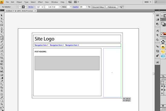 Wireframing with InDesign and Illustrator