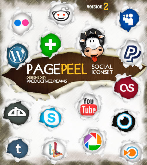 pagepeel icon set 2 Free Social Media Icon Sets Best Of