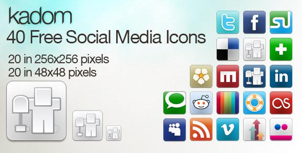 kadom icon set Free Social Media Icon Sets Best Of