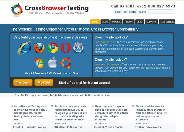 Cross browsertesting