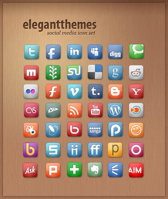 elegant themes icon set Free Social Media Icon Sets Best Of