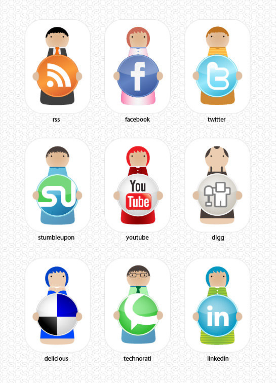 character icon set Free Social Media Icon Sets Best Of