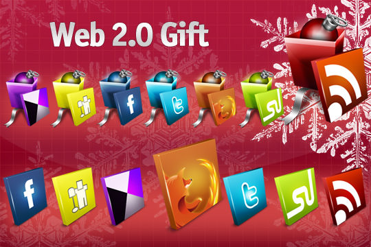 web 20 gift icon set Free Social Media Icon Sets Best Of