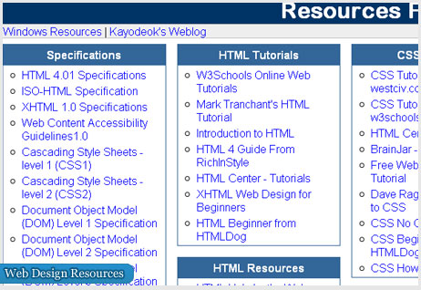 9 Websites with huge list of resources for web designers and devolopers