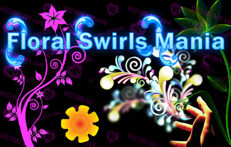 floral swirls tutorials