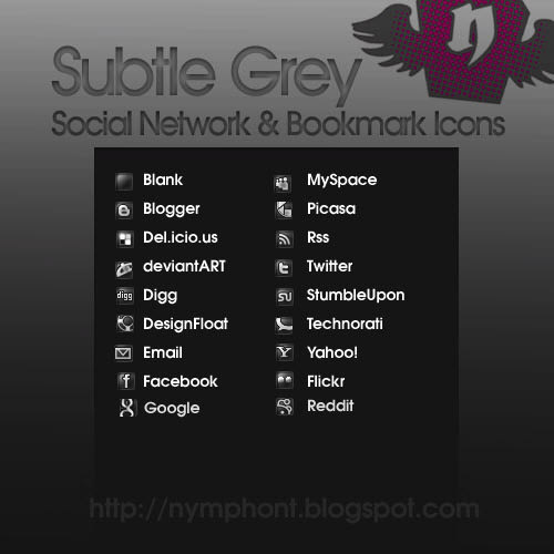 subtle grey icon set Free Social Media Icon Sets Best Of