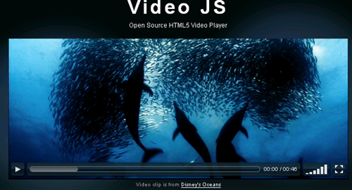 Video JS Open Source HTML5 Video Player