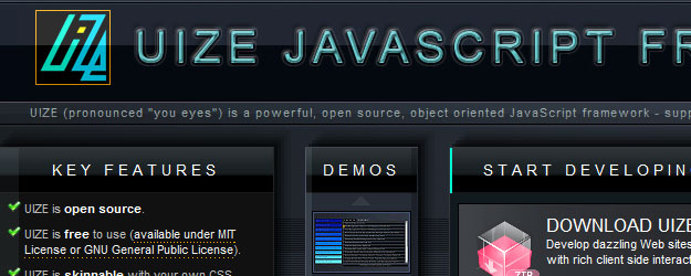 UIZE - a powerful, open source, object oriented JavaScript framewor