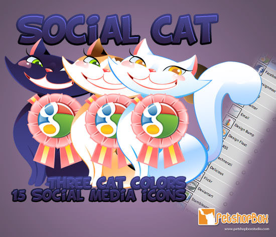 social cat icon set Free Social Media Icon Sets Best Of